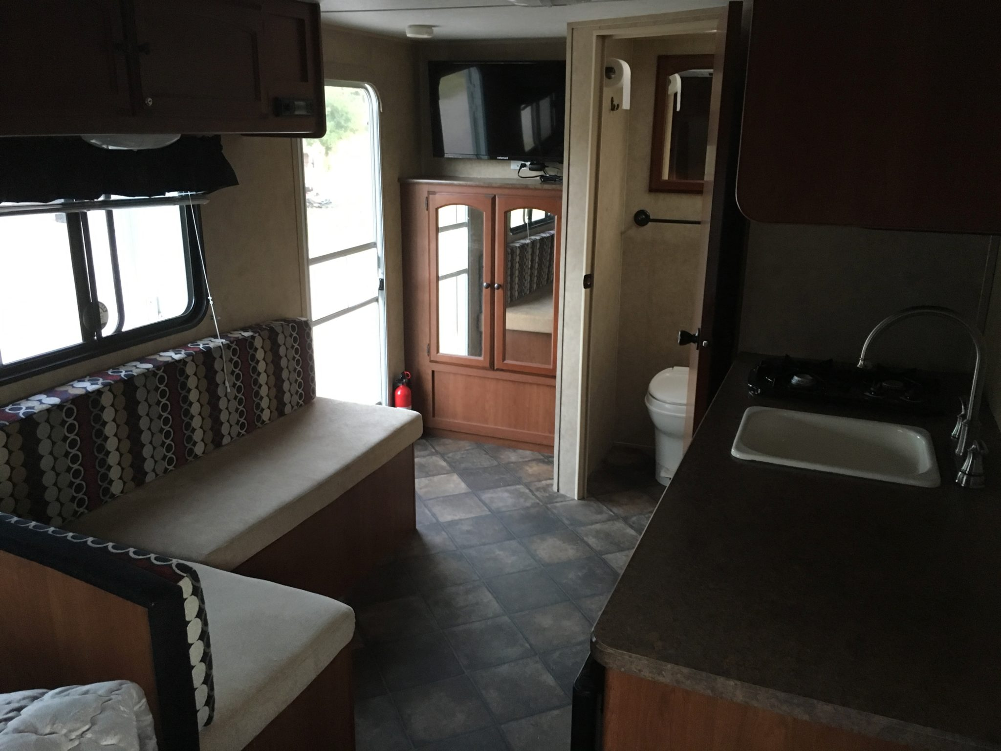 Dutchmen 816QB 2013 Travel Trailer interior from front