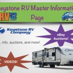 keystone rv travel trailer master info page